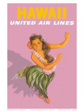Hawaiian Hula Dancer - United Air Lines by Stan Galli