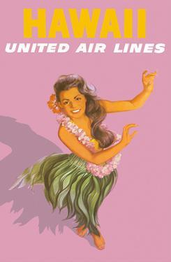 Hawaiian Hula Dancer - United Air Lines by Stan Galli
