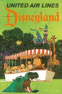 United Airlines Disneyland, Anaheim, California, 1960s by Stan Galli