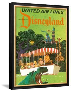 United Airlines: Disneyland in Anaheim, California, c.1960's by Stan Galli