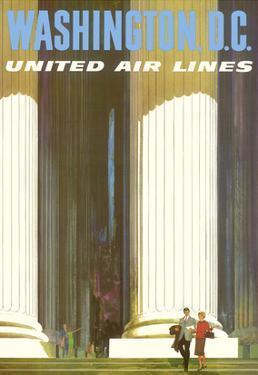 Washington D.C. - Lincoln Memorial - United Air Lines by Stan Galli