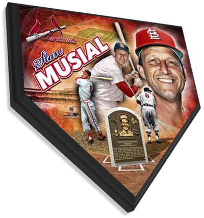 Stan Musial Home Plate Plaque