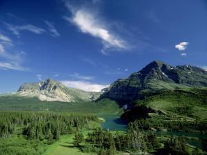 Landscape at Many Glacier, Montana, USA by Stan Osolinski