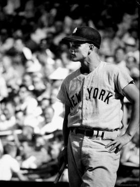 Good Informal Portrait NY Yankees Right Fielder Roger Maris Leaning on Bat During All Star Game by Stan Wayman