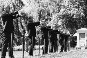 Secret Service Agents in Training Shooting Targets, Washington DC, 1968 by Stan Wayman