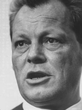 West Berlin Mayor Willy Brandt During Election Rally by Stan Wayman