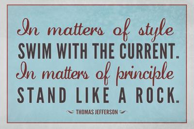 Stand Like A Rock Thomas Jefferson Quote Art Print Poster