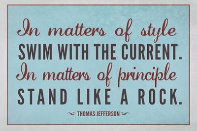 Stand Like A Rock Thomas Jefferson Quote Plastic Sign
