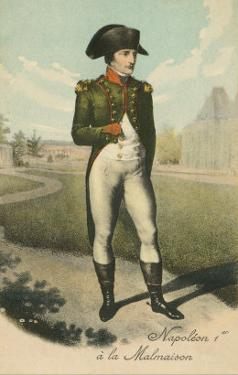 Standing Napoleon with Hand in Shirt