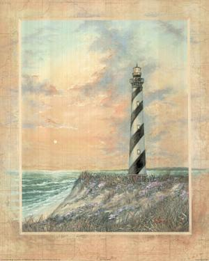Standing Tall (Striped Lighthouse) Art Print Poster