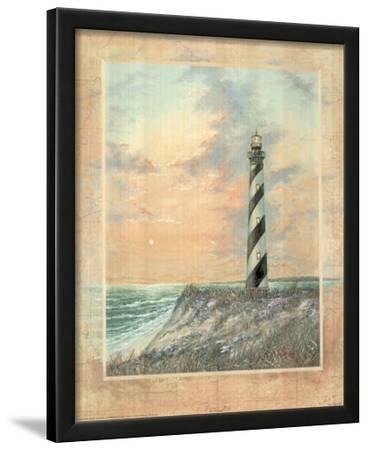 Standing Tall (Striped Lighthouse) Art Print Poster