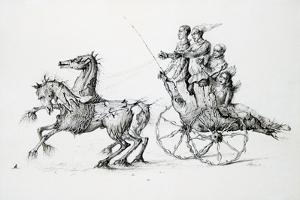 Death in Barouche, C1850-1890 by Stanislas Lepine