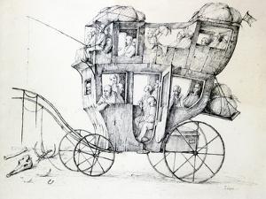 Diligence, C1850-1890 by Stanislas Lepine