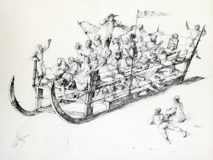 Le Traineau, C1850-1890 by Stanislas Lepine