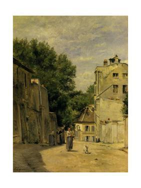 Montmartre, Rue Saint-Vincent by Stanislas Lepine