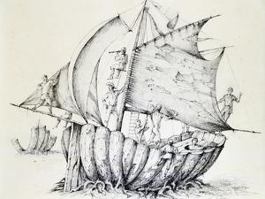 The Ship, C1850-1890 by Stanislas Lepine