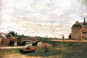 View of the Village, C1855-1892 by Stanislas Lepine