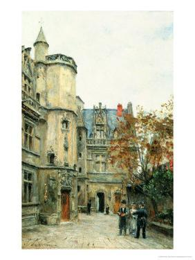 The Courtyard of the Museum of Cluny, circa 1878-80 by Stanislas Victor Edouard Lepine