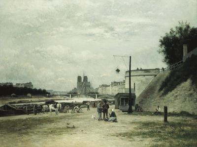 The Quai De Louviers at the Pont Sully, C.1875