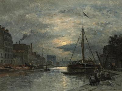 The Saint-Martin Canal at Moonlight; Le Canal Saint-Martin Au Clair De Lune