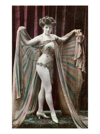 Postcard Depicting an Oriental Dancer