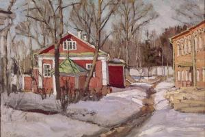 Country Estate in Winter, 1904 by Stanislav Yulianovich Zhukovsky