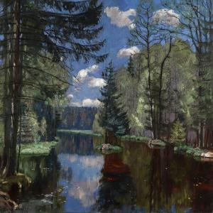Forest Lake, 1934 by Stanislav Yulianovich Zhukovsky