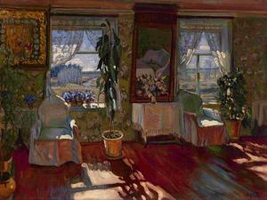Interior, 1917 by Stanislav Yulianovich Zhukovsky