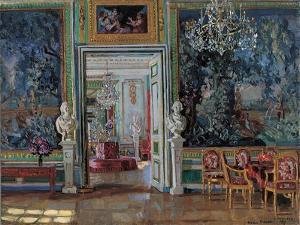 Interior in the Kuskovo Palace, 1917 by Stanislav Yulianovich Zhukovsky