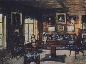 The Drawing Room in the Manor House Rozhdestveno by Stanislav Yulianovich Zhukovsky