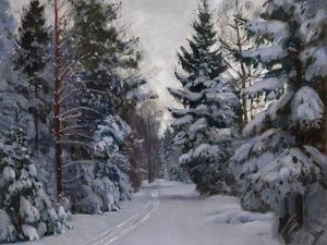 Tracks in the Snow, 1928 by Stanislav Yulianovich Zhukovsky