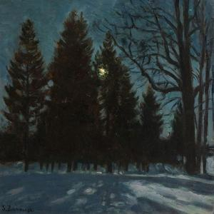 Winter Night, 1931 by Stanislav Yulianovich Zhukovsky