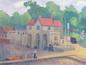 The Butt and Oyster, Pin Mill, before 1935 by Stanislawa de Karlowska