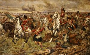 Gordons and Greys to the Front! Incident at Waterloo by Stanley Berkeley