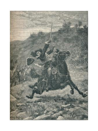 Last charge of Viscount Dundee at the Battle of Killiecrankie, Scotland, 1689