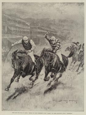 The Race for the St Leger, Defeat of Lord Rosebery's Colt Ladas by Lord Alington's Filly Throstle by Stanley Berkeley