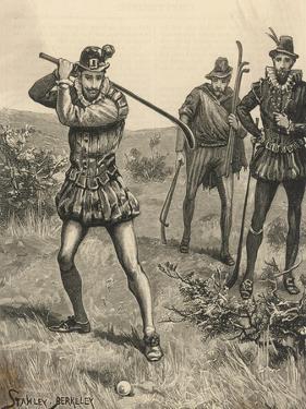 Three Seventeenth Century Golfers by Stanley Berkeley