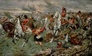 Waterloo: Gordons and Greys to the Front, 18th June, 1815 by Stanley Berkeley