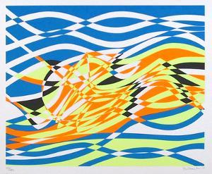 Untitled 4, from the Aquarius Suite by Stanley Hayter