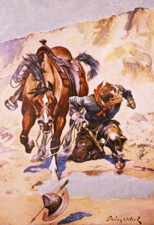 Cowboy Pursued by Indians.
