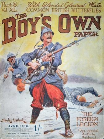 French Foreign Legion in Wwi, Cover of the Boy's Own Paper, June 1918