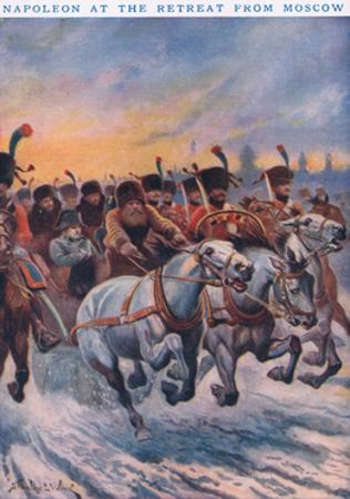 Napoleon at the Retreat from Moscow AD 1812
