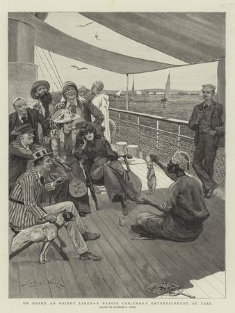 On Board an Orient Liner, a Native Conjuror's Entertainment at Suez
