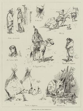 Sketches from an Indian Reservation by Stanley L. Wood