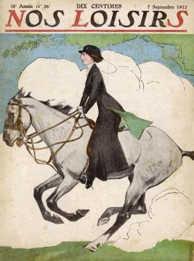 Woman and Her Daughter Go out for a Ride on Their Horses by Stanley Lloyd