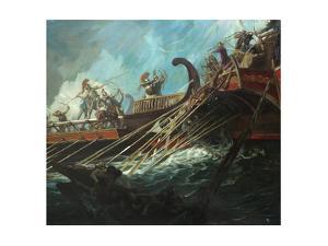 Battle of Salamis, 480 Bce by Stanley Meltzoff