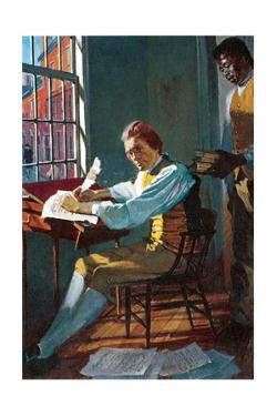 Thomas Jefferson in His Study by Stanley Meltzoff