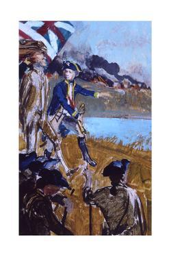 Thomas Jefferson Leading a Troop During the Revolutionary War by Stanley Meltzoff