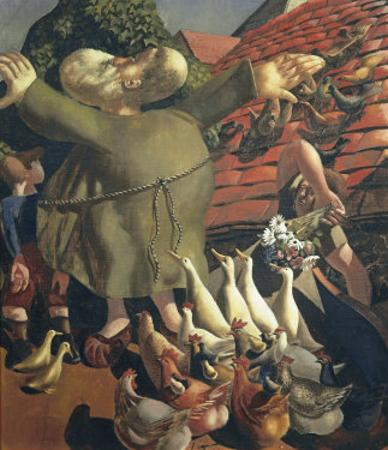 St Francis and the Birds by Stanley Spencer