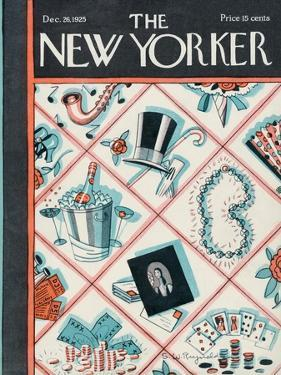 The New Yorker Cover - December 26, 1925 by Stanley W. Reynolds